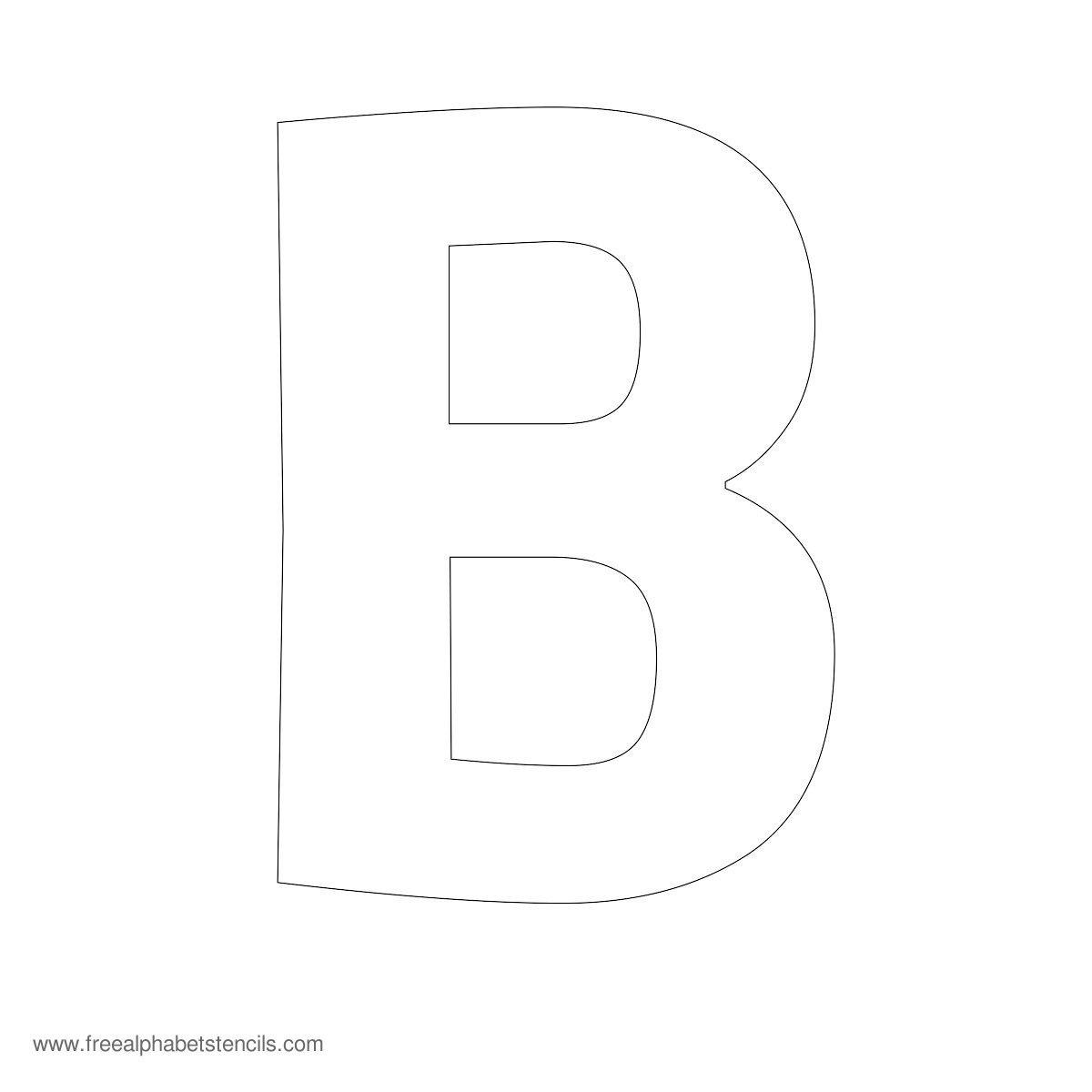 Large Alphabet Stencils | Freealphabetstencils - Free Printable Cut Out Letter Stencils