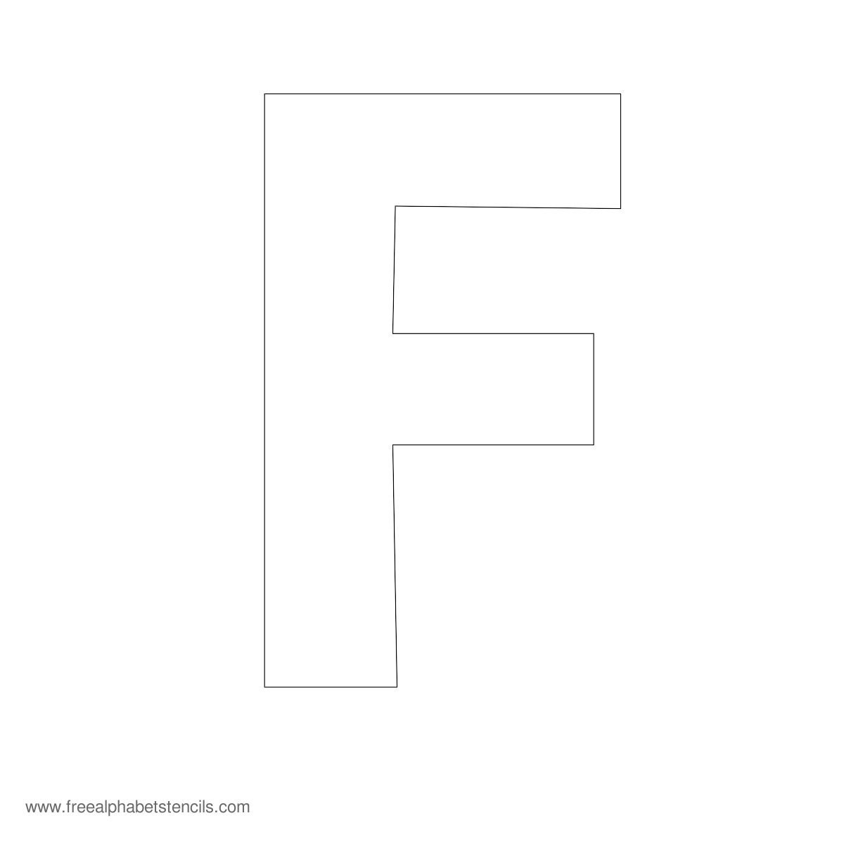 Large Alphabet Stencils | Freealphabetstencils - Free Printable Extra Large Letter Stencils