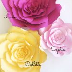Large Paper Flowers, Diy Templates And Ready To Ship | Paperflora   Free Printable Templates For Large Paper Flowers