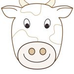 Large Printable Cow Decoration   Coolest Free Printables | Cow   Animal Face Masks Printable Free