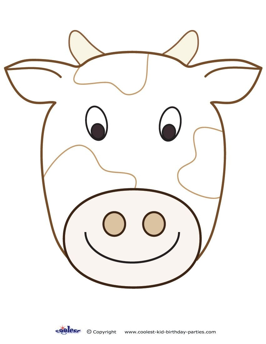 Large Printable Cow Decoration - Coolest Free Printables | Cow - Animal Face Masks Printable Free