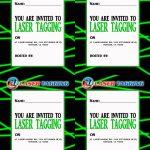 Laser Tag Free Printables | Laser Tag Invitations Printable Free   Free Printable Birthday Tag Templates