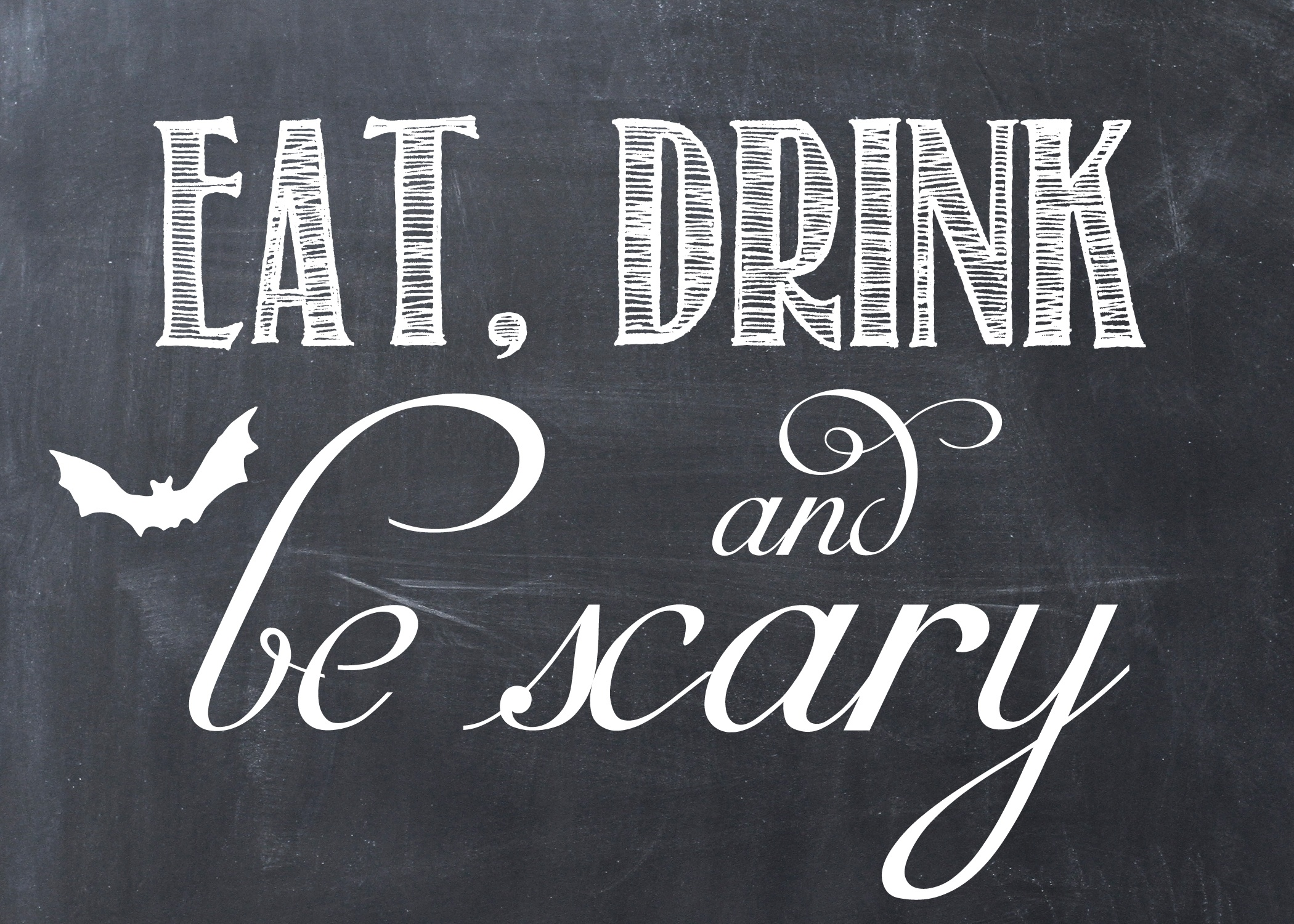 Last Minute Halloween Printable! - Love And Marriage - Eat Drink And Be Scary Free Printable