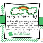 Last Minute St Patrick's Day Idea   Party Like A Cherry   Free Printable Leprechaun Notes