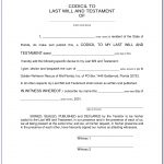 Last Will And Testament Template (6) | Best Agenda Templates Within   Free Printable Last Will And Testament Blank Forms Florida