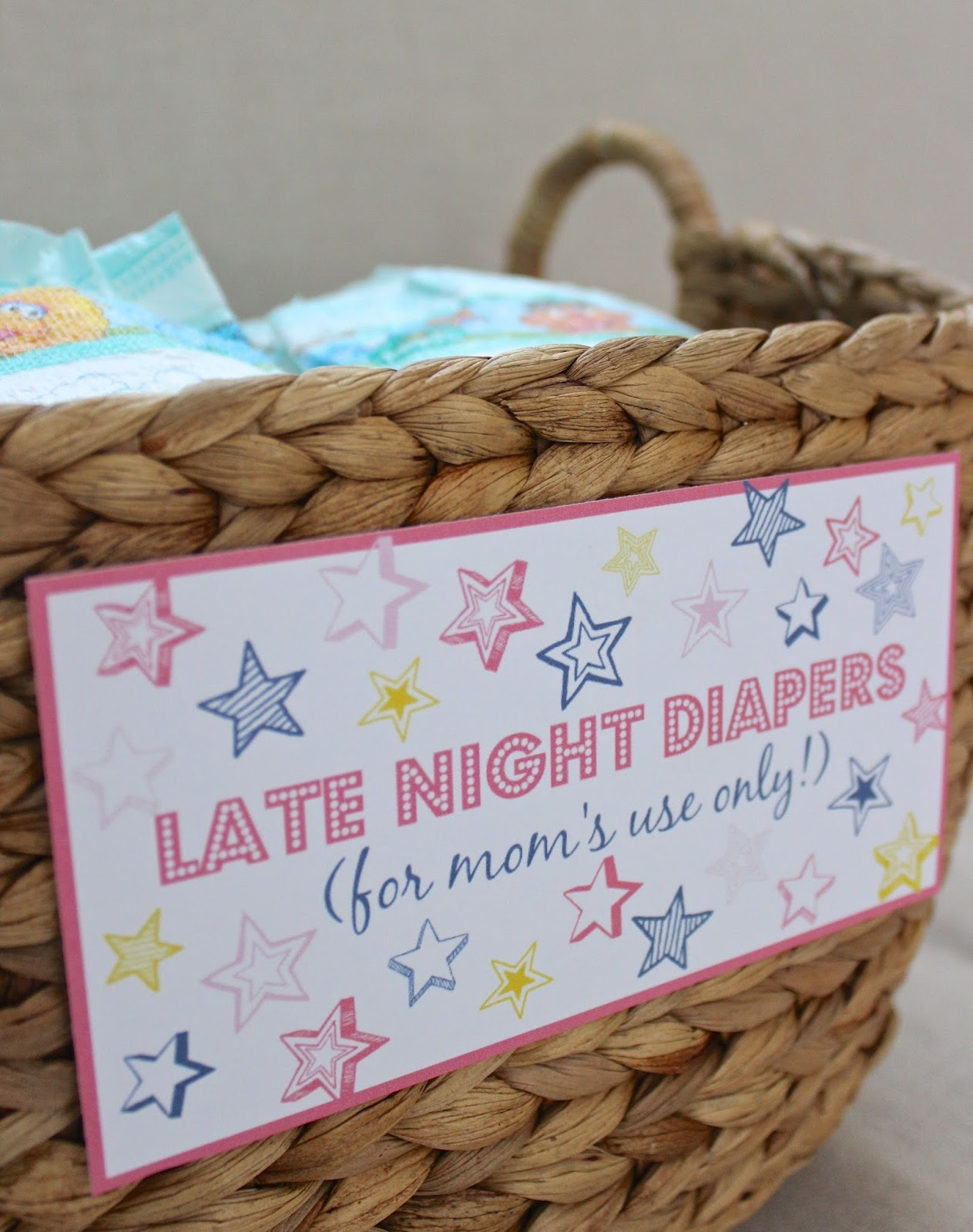 Late Night Diapers Baby Shower Printables | Drivendecor - Late Night Diaper Sign Free Printable