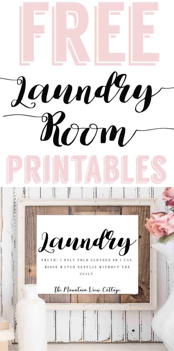 Laundry Room Printables-Free Farmhouse Printables - The Mountain - Free Laundry Room Printables