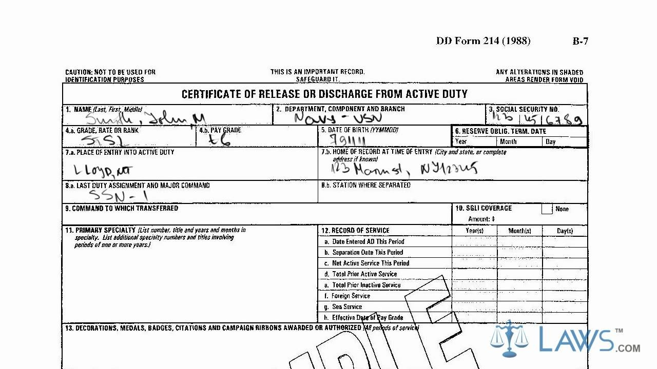 Learn How To Fill The Dd-214 Form Certificate Of Release Of - Free Printable Dd214 Form