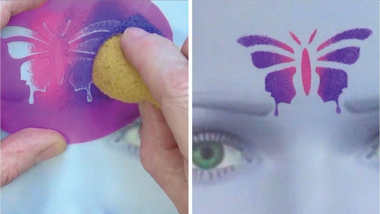 Learn To Create And Apply Stencils - Face Painting Made Easy Part 6 - Free Printable Stencils For Face Painting