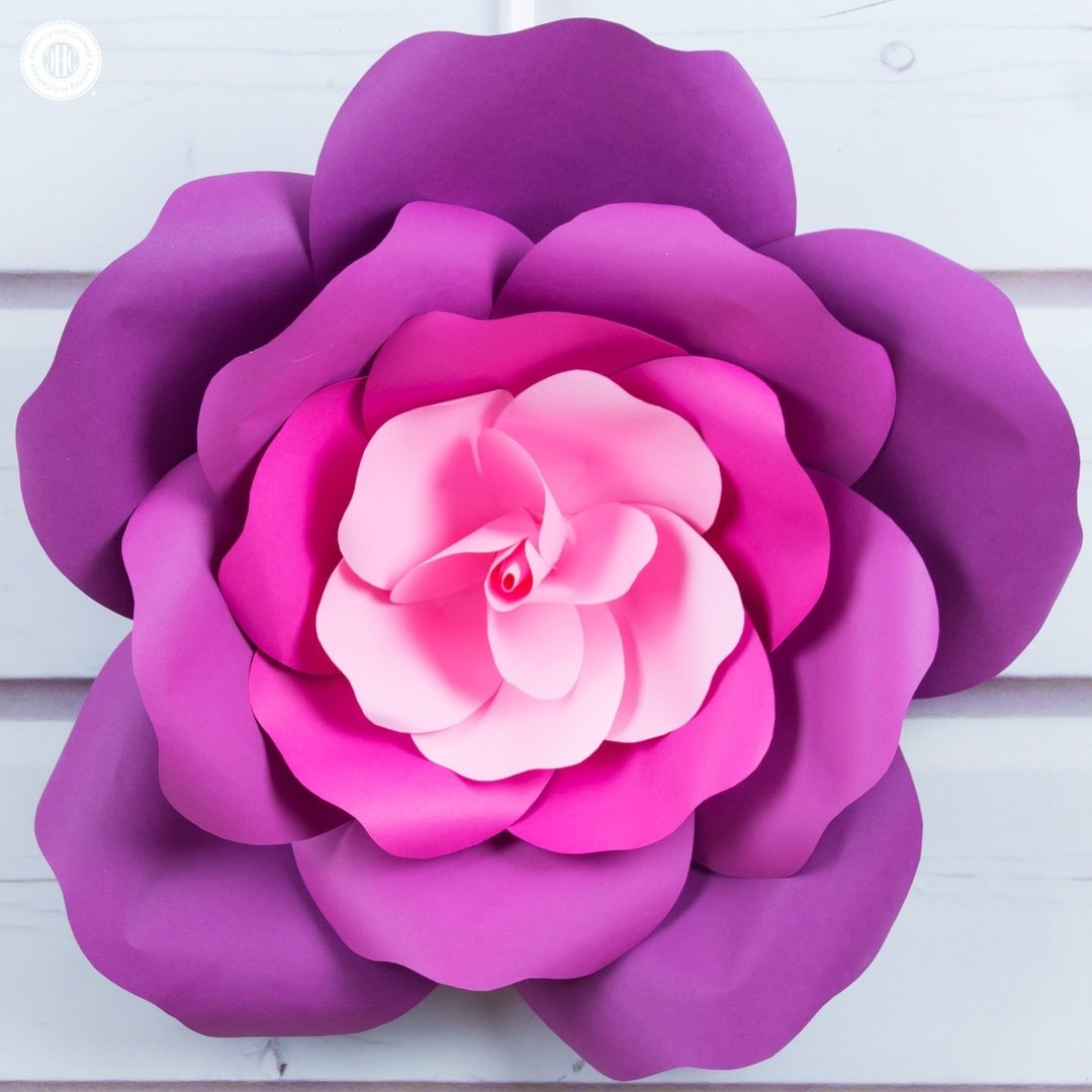 Learn To Make Giant Paper Roses In 5 Easy Steps And Get A Free Template - Free Printable Templates For Large Paper Flowers