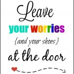 Leave Your Shoes At The Door Printable | Free Printable Ideas   Free Printable Remove Your Shoes Sign