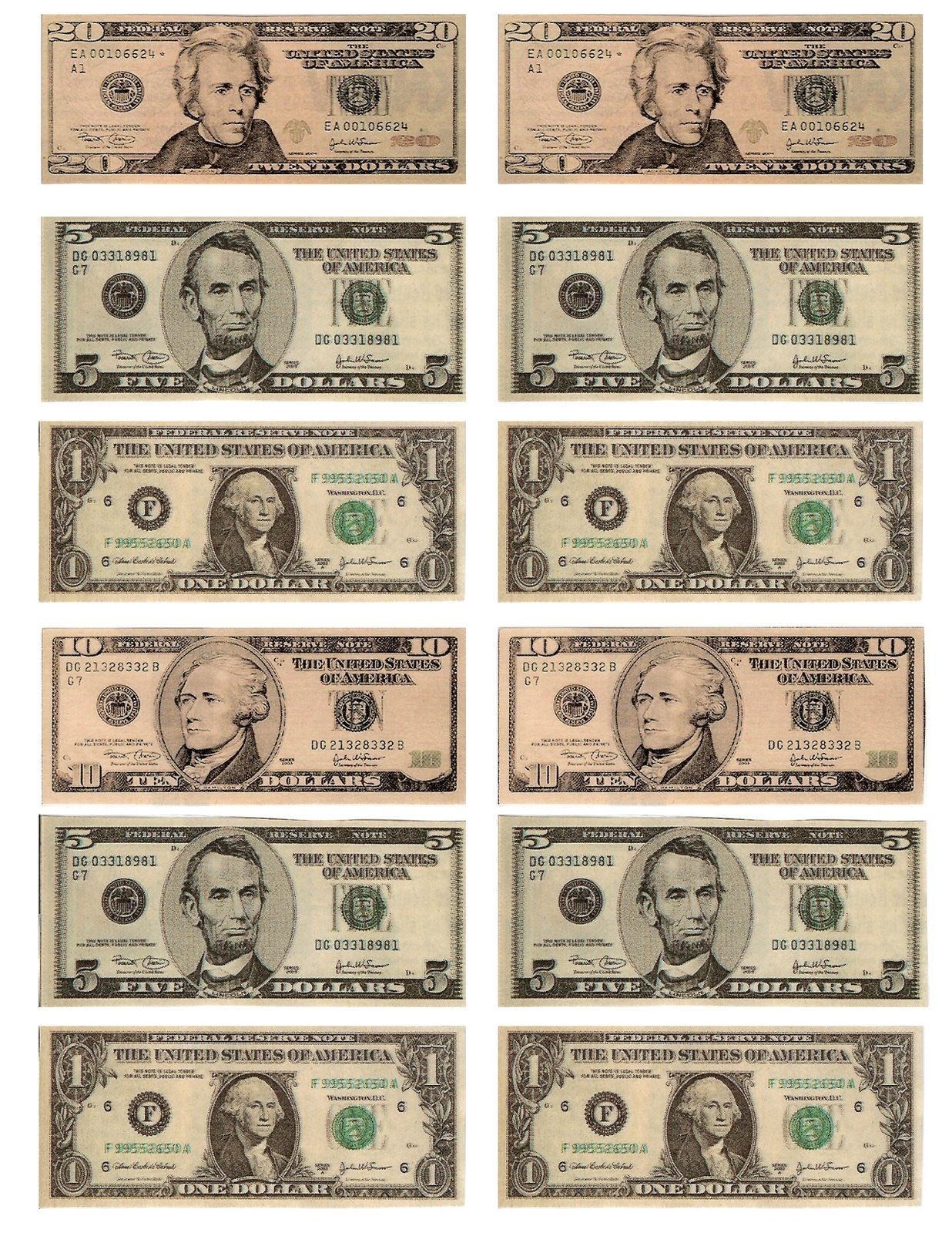 Legal, Free, Printable Money For Teaching The Kids About American - Free Printable Play Money