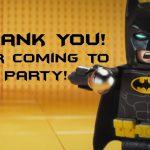Lego Batman Thank You Cards | Lego Party | Pinterest   Feestje En Lego   Free Printable Lego Batman