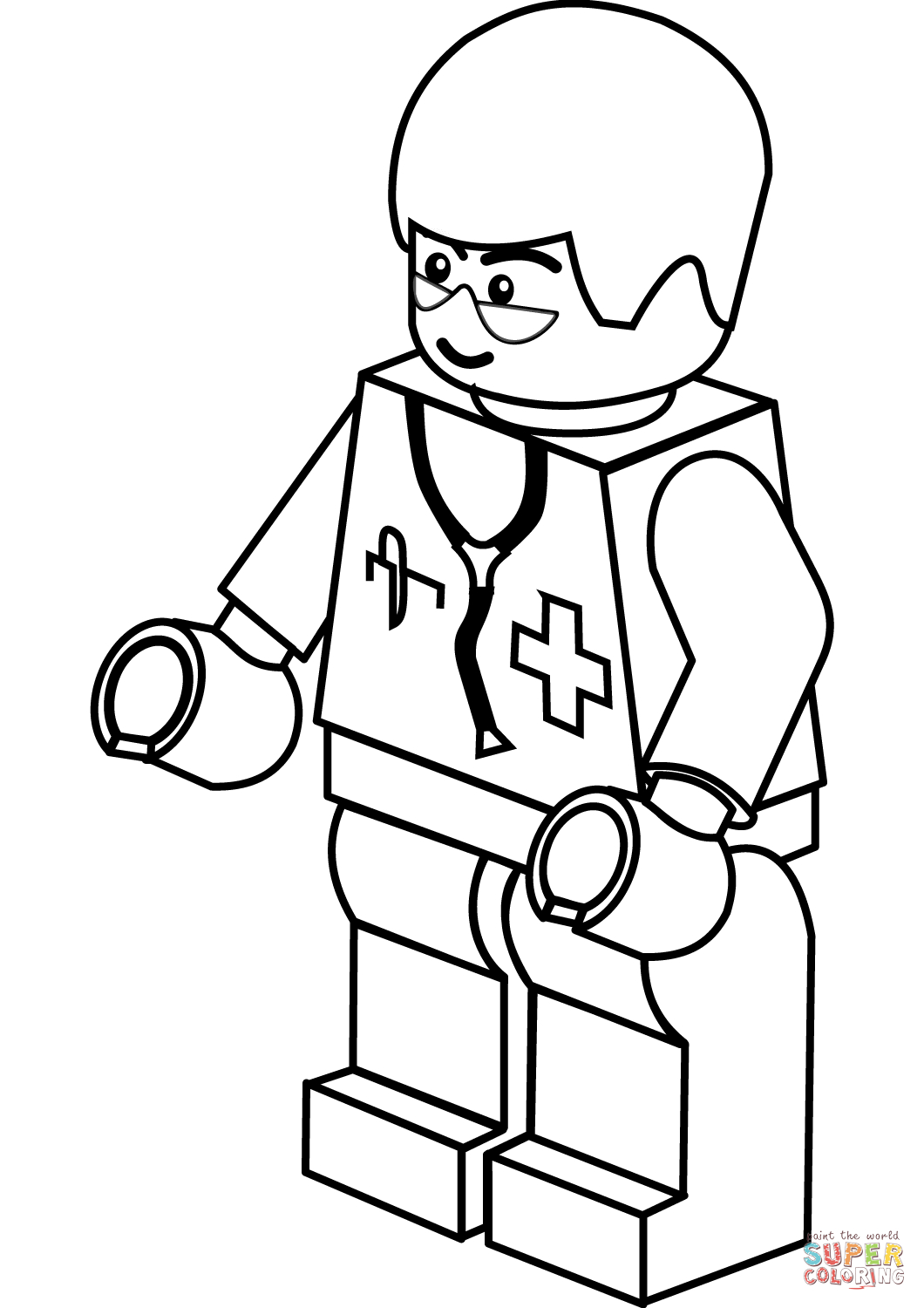 Lego Doctor Coloring Page | Free Printable Coloring Pages | Lego - Doctor Coloring Pages Free Printable