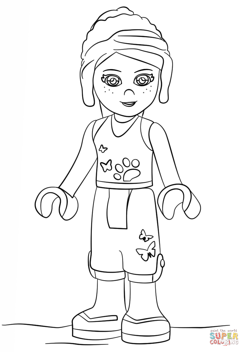 Lego Friends Mia Coloring Page   Free Printable Coloring Pages - Free Printable Lego Friends Coloring Pages
