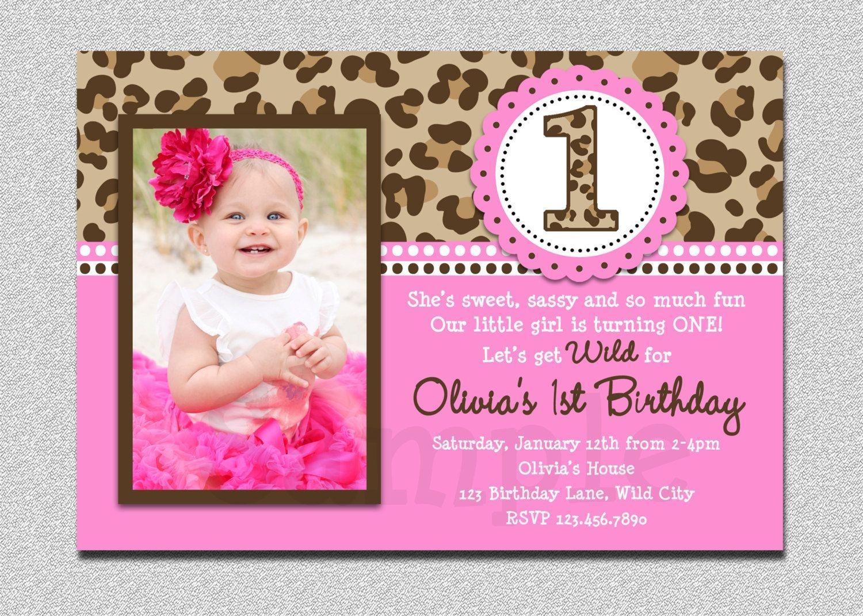 Leopard Birthday Invitation , 1St Birthday Party Invitation - Free Printable Cheetah Birthday Invitations
