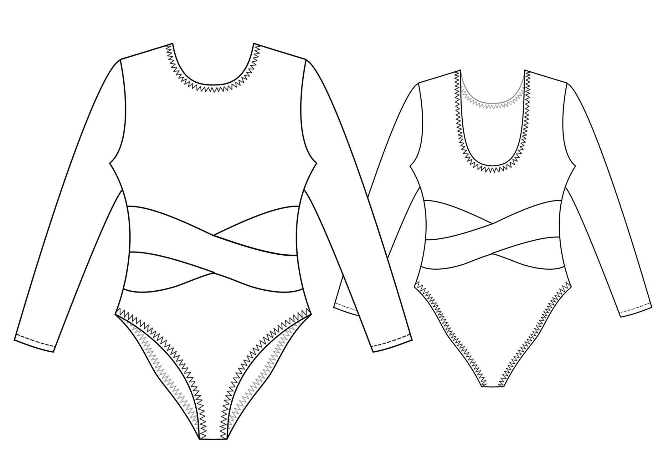 Leotard - Sewing Pattern #7164 Made-To-Measure Sewing Pattern From - Free Printable Leotard Pattern