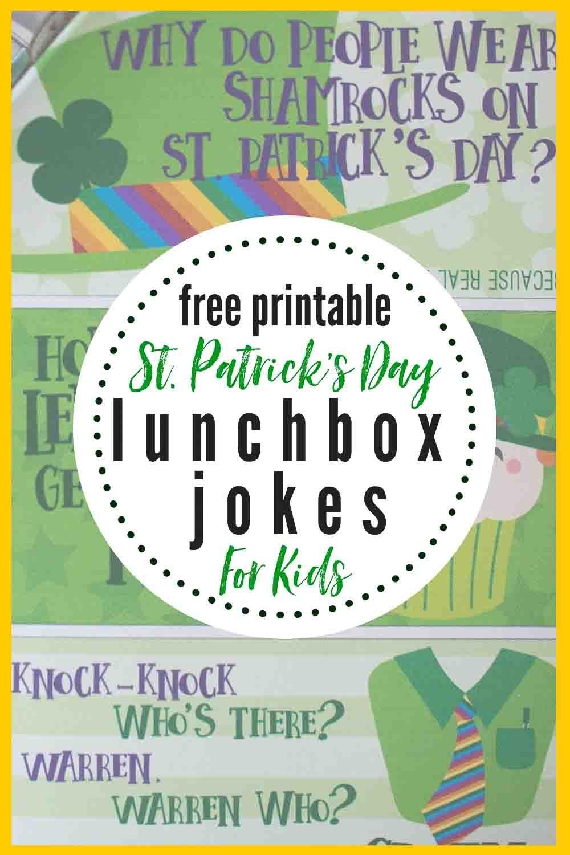 Leprechaun Lunchbox Jokes For Kids | The Heathered Nest - Free Printable Leprechaun Notes