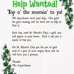 Leprechaun Note Printable. A Fun Way To Get Your Kids Excited For St   Free Printable Leprechaun Notes