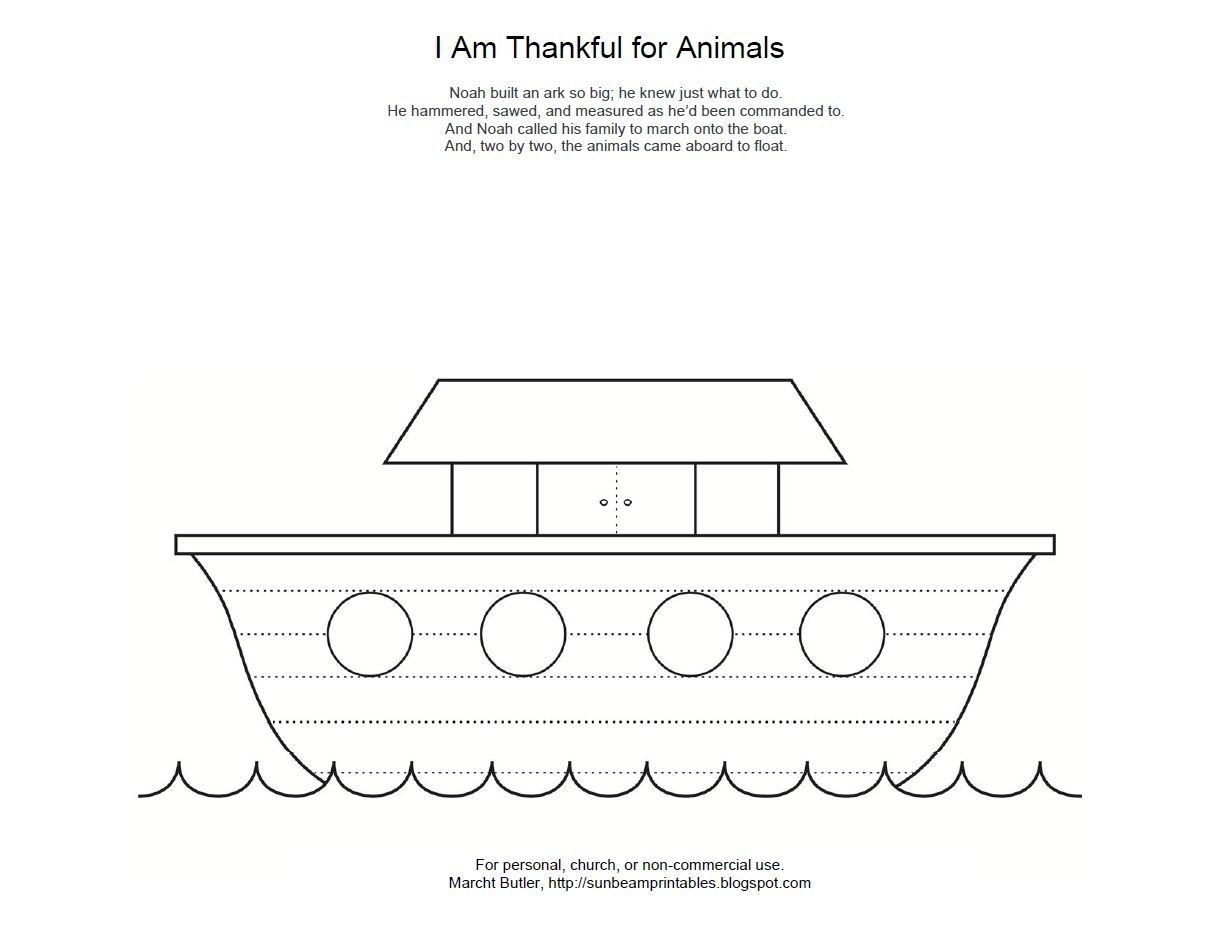 Lesson | I Love My Church | Noahs Ark Craft, Ark, Bible School Crafts - Free Noah's Ark Printables