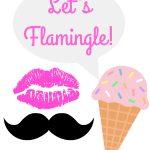 Let's Flamingle Flamingo Party Free Printable Photo Booth Props   Hawaiian Photo Booth Props Printable Free