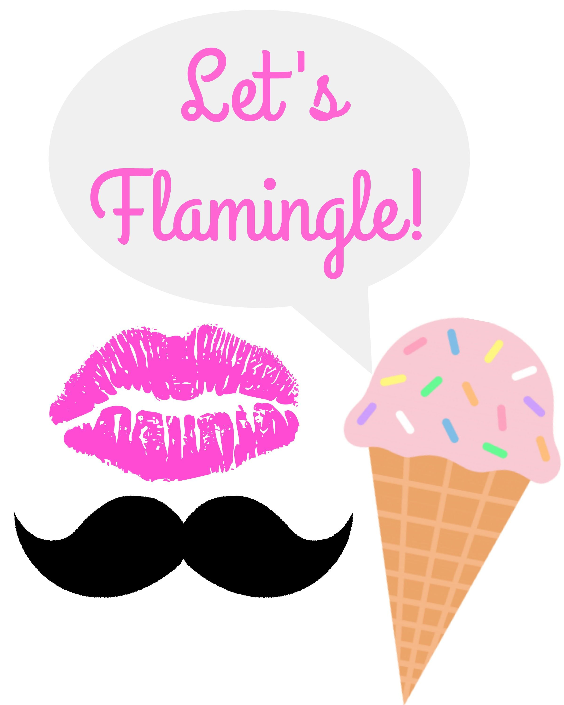 Let's Flamingle Flamingo Party Free Printable Photo Booth Props - Hawaiian Photo Booth Props Printable Free