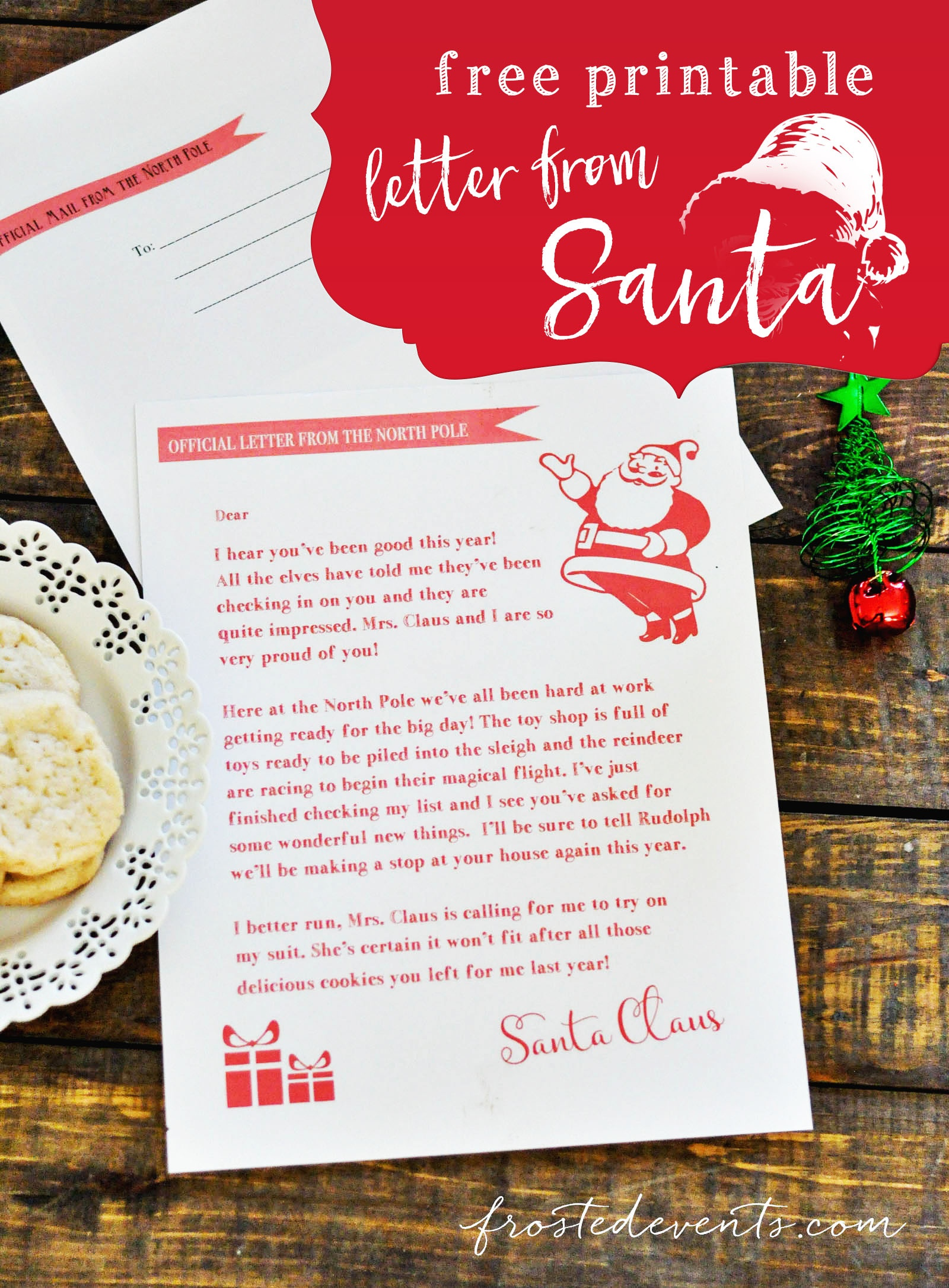 Letter From Santa - Free Printable - Free Printable Christmas Morning Letters From Santa