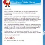 Letter From Santa Templates Free | Printable Santa Letters   Free Printable Letter From Santa Template