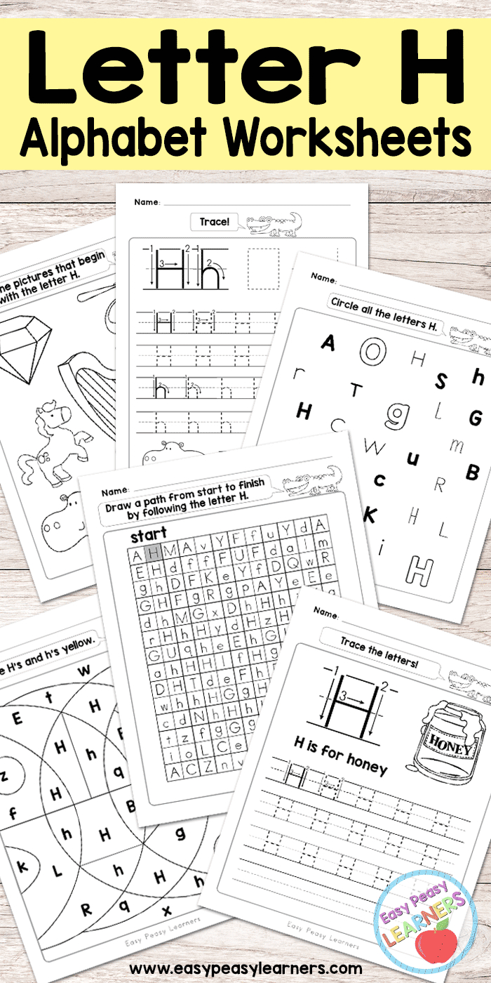 Letter H Worksheets - Alphabet Series - Easy Peasy Learners - Free Printable Letter Worksheets