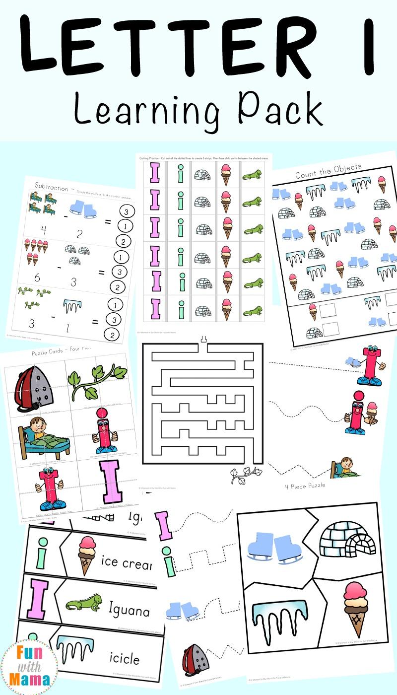 Letter I Worksheets + Activities For Preschool - Fun With Mama - Free Printable Alphabet Activities For Preschoolers