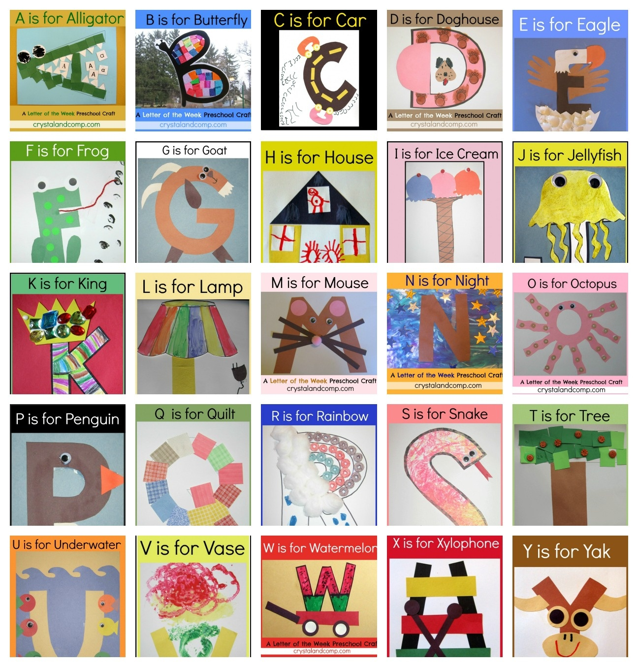 Letter Of The Week Crafts - Free Printable Alphabet Activities For Preschoolers