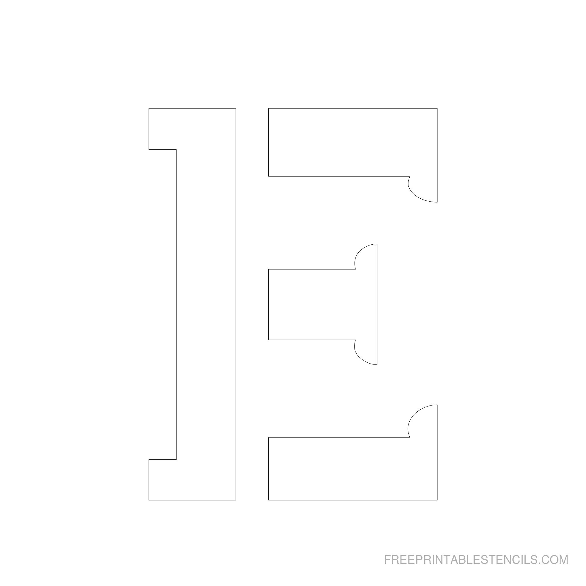 Letter Stencils To Print | Free Printable Stencils - Free Printable 10 Inch Letter Stencils