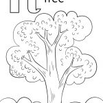 Letter T Is For Tree Coloring Page | Free Printable Coloring Pages   Tree Coloring Pages Free Printable