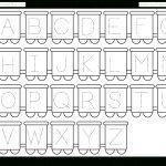 Letter Tracing Worksheet – Train Theme / Free Printable Worksheets   Free Abc Printables For Kindergarten
