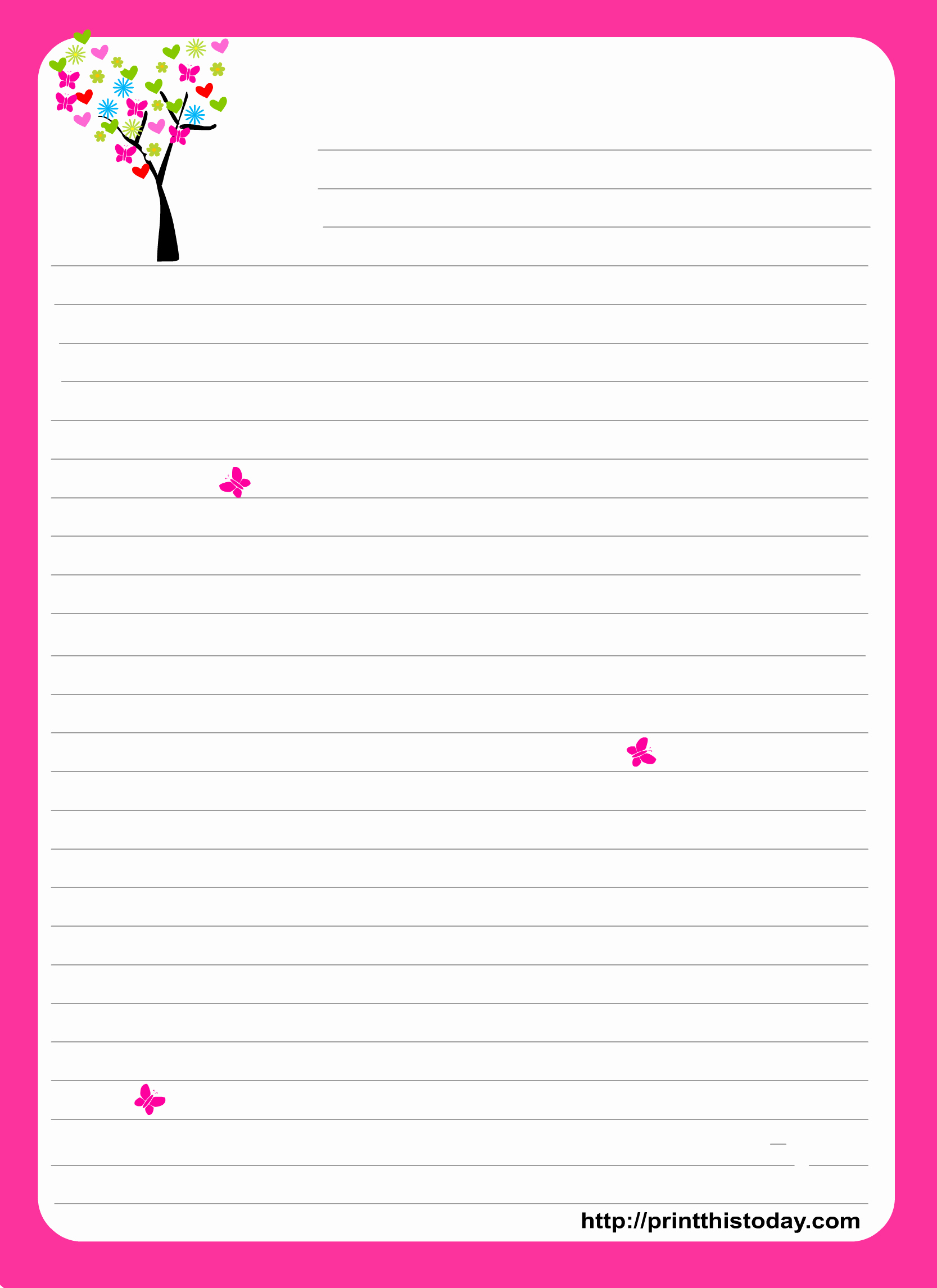 Letterhead And Stationary Free Printable Stationary Printables - Free Printable Stationary