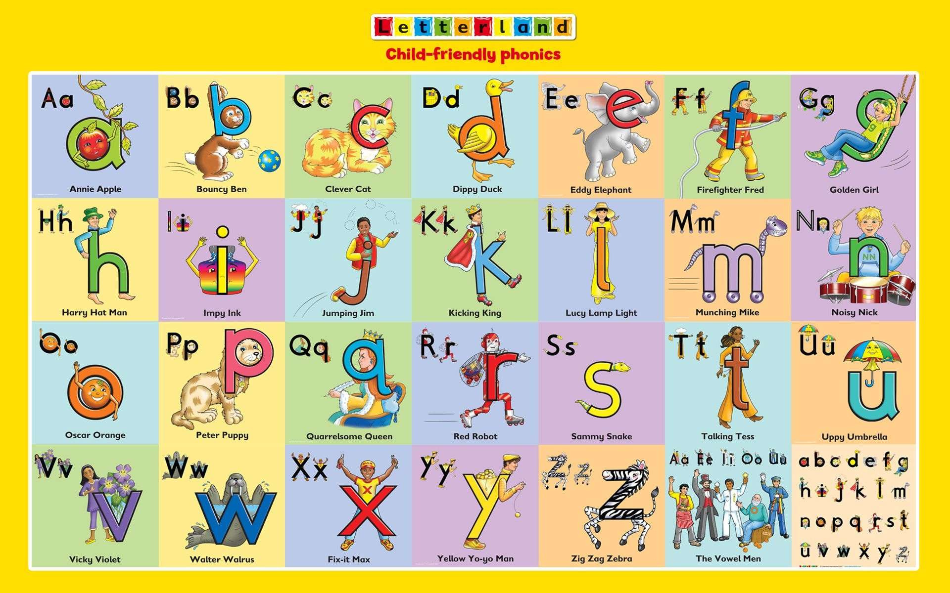 Letterland Characters   To Do - With Camille   Teaching Kids - Letterland Worksheets Free Printable