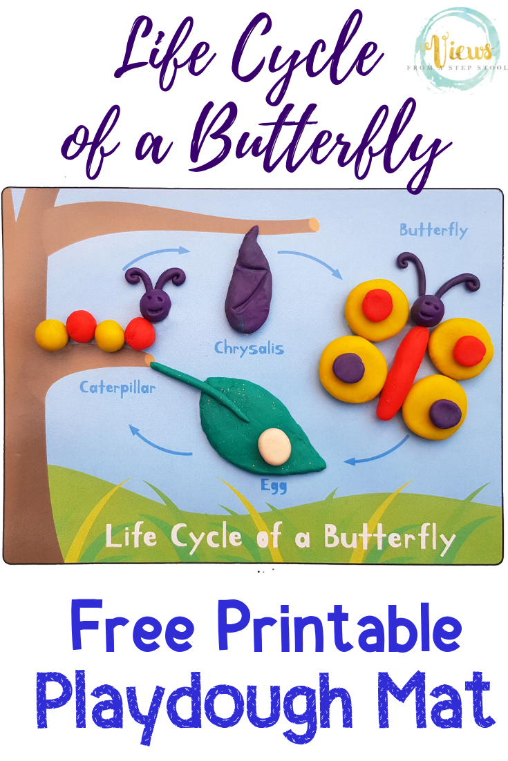 Life Cycle Of A Butterfly Playdough Mat - Free Printable - Views - Free Printable Playdough Mats