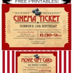 Like Mom And Apple Pie: A Summer Of Movies! Free Printables! Free   Free Printable Movie Ticket Birthday Party Invitations