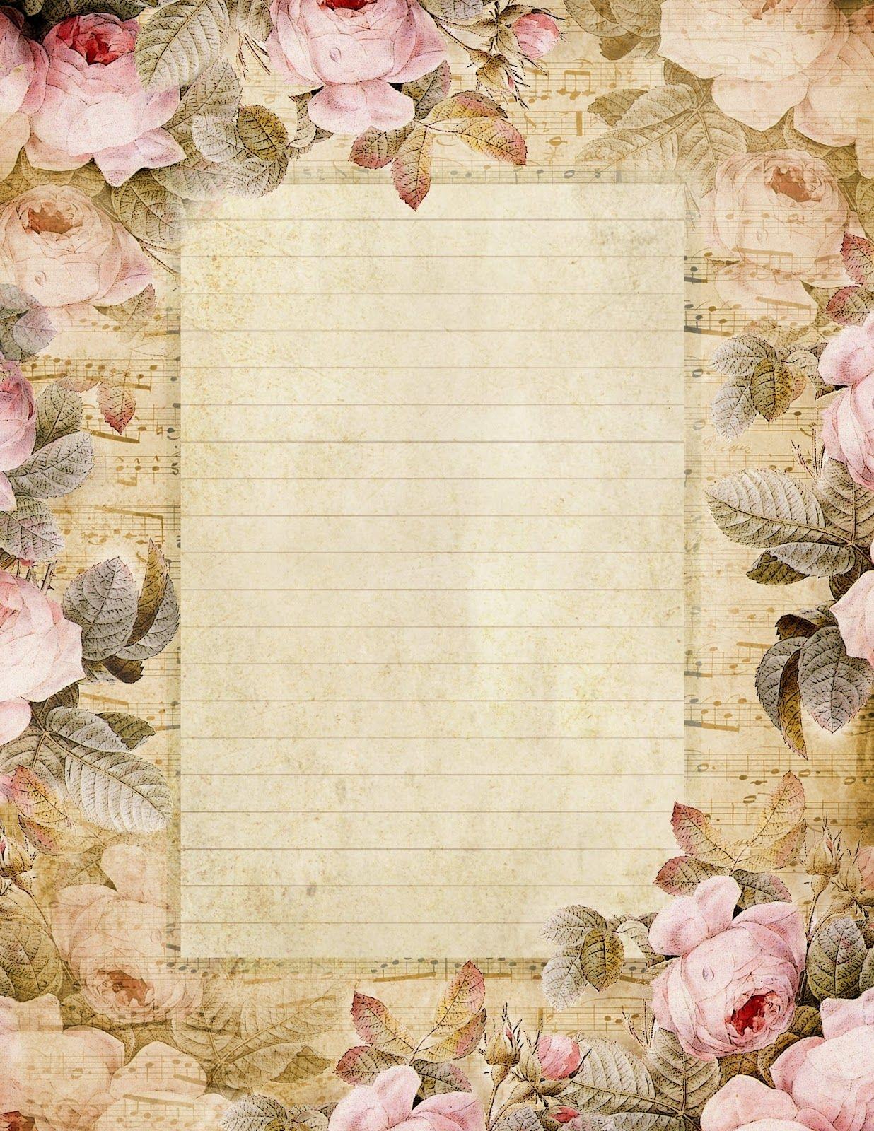 Lilac & Lavender: The Fairest Blossom | Printable Stationery - Free Printable Vintage Stationary