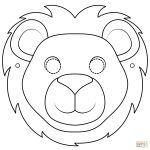 Lion Mask Coloring Page | Free Printable Coloring Pages   Free Printable Lion Mask