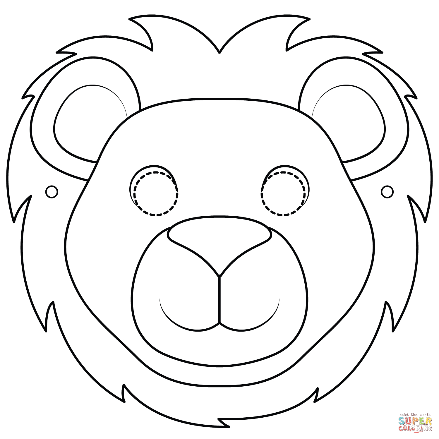 Lion Mask Coloring Page | Free Printable Coloring Pages - Free Printable Lion Mask