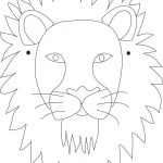 Lion Mask Printable Coloring Page For Kids | Caretas | Lion Mask   Free Printable Lion Mask