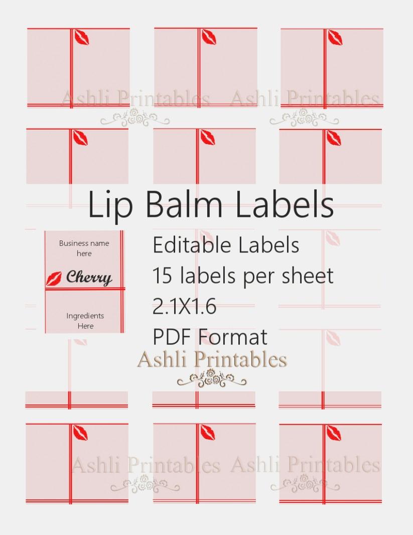 Lip Balm Labels Free | Julakutuhy.co - Free Printable Lip Balm Label Template