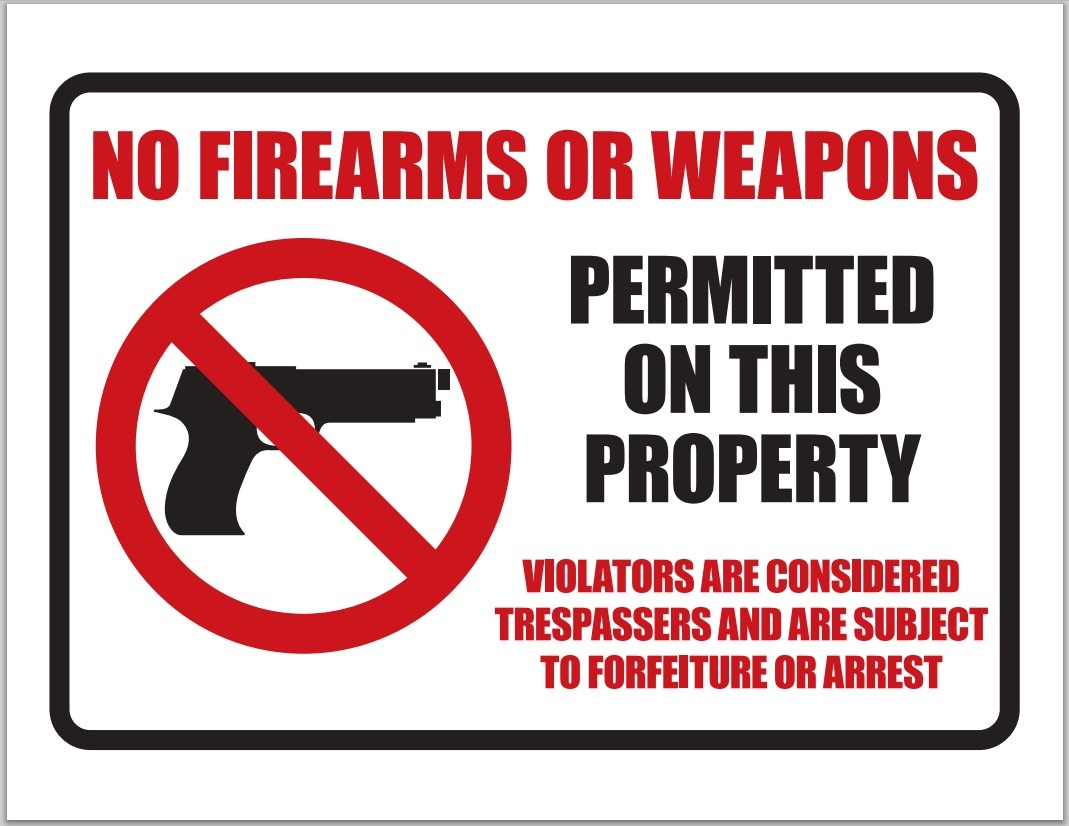 List Of Synonyms And Antonyms Of The Word: No Weapons Sign - Free Printable No Guns Allowed Sign