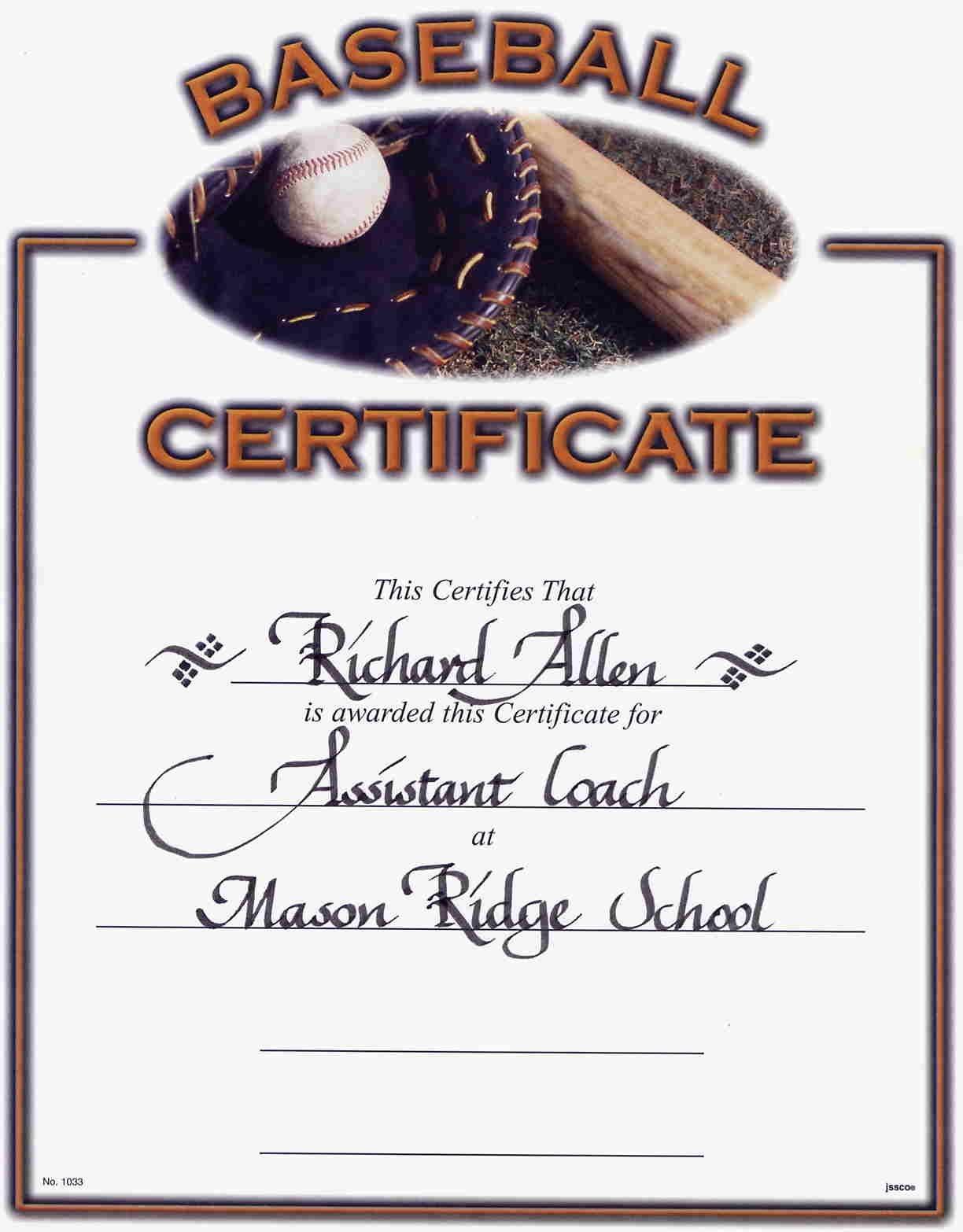 Little League Baseball Award Certificates - Google Search   Discount - Free Printable Baseball Certificates