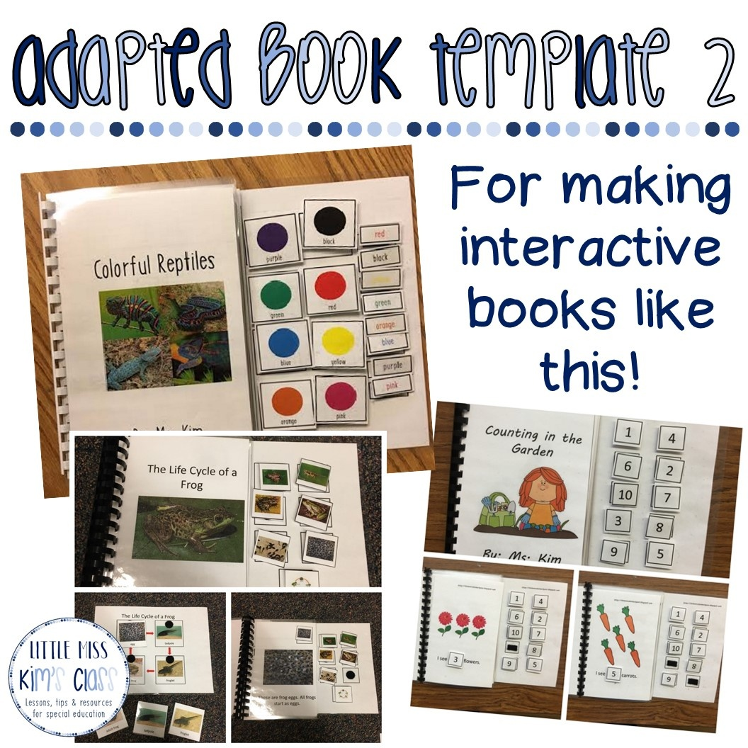 Little Miss Kim's Class: Free Editable Adapted Book Templates - Free Adapted Books Printable