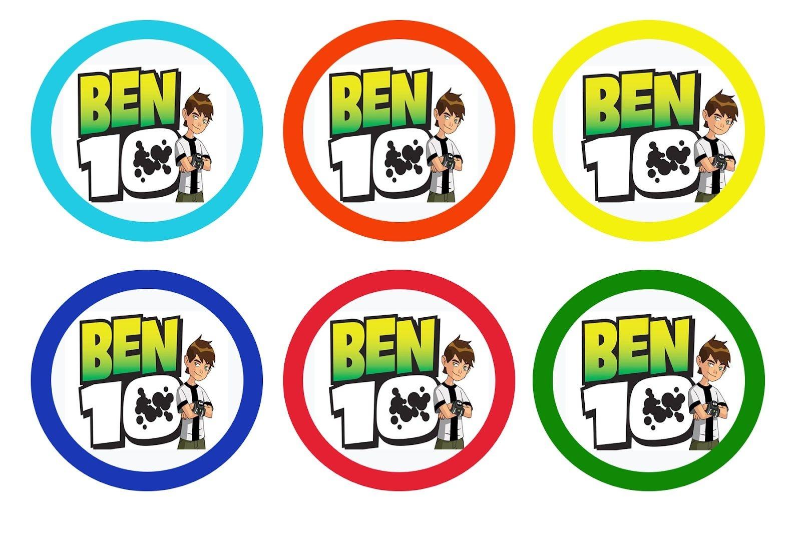 Liz Loves Lexi And Arkin: Cupcake Toppers - Ben Ten And Barney   Ben - Free Printable Ben 10 Cupcake Toppers