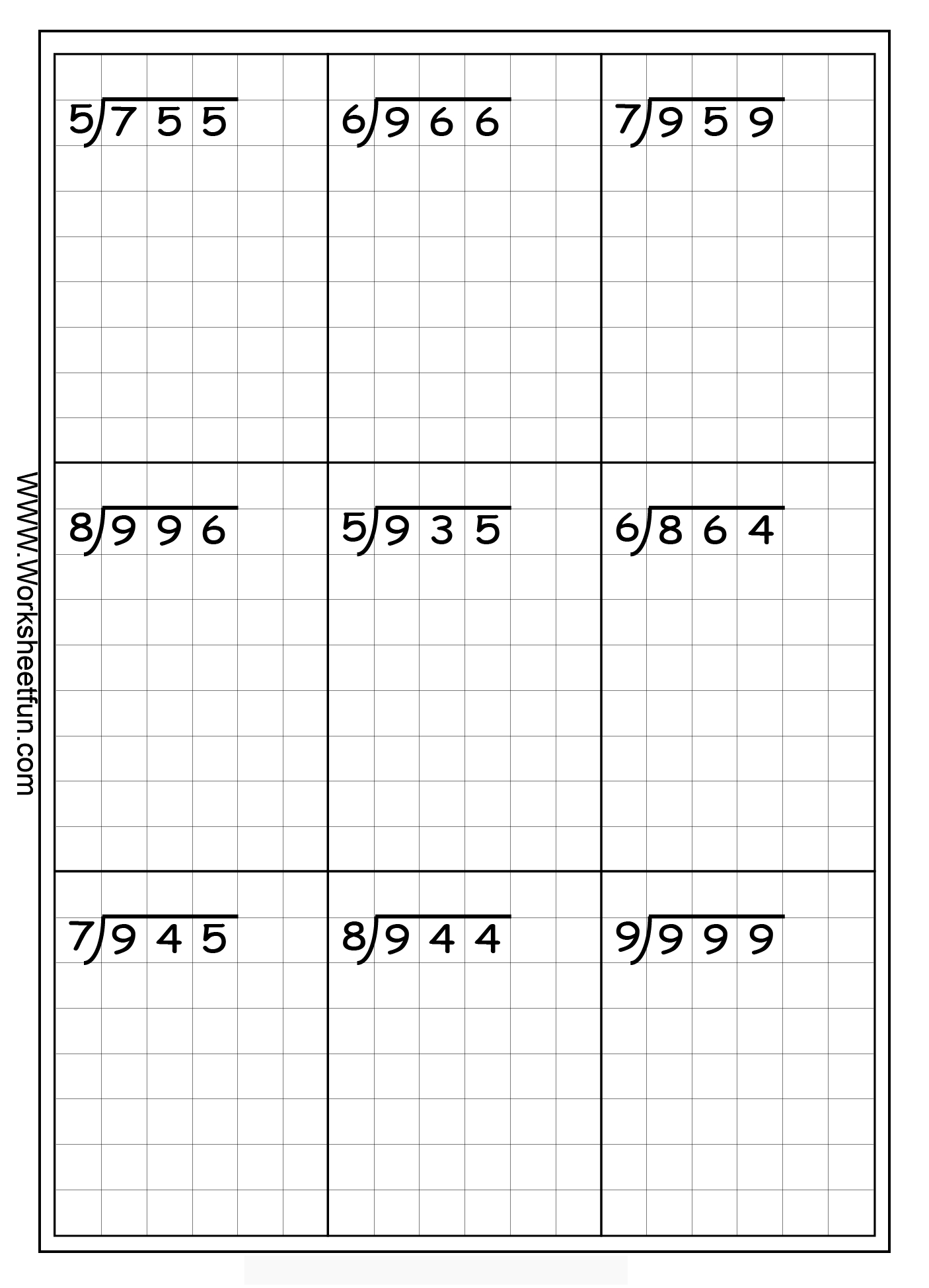 Long Division Free Worksheets | Eva School | Math, Long Division - Free Printable Division Worksheets For 5Th Grade