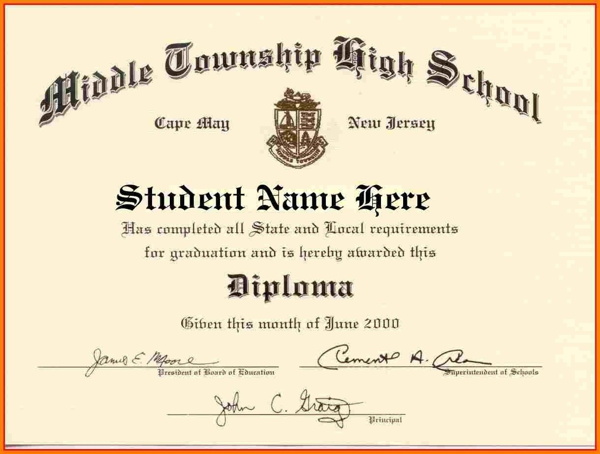 Looking For High School Diploma Template Word For Free? Here You Go - Printable Fake Ged Certificate For Free