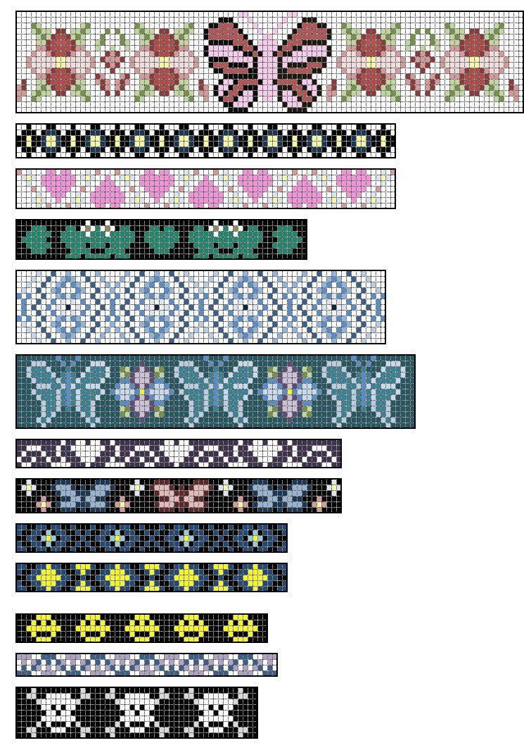 Loom+Beading+Patterns | Native American Split Loom Patterns: Free - Free Printable Native American Beading Patterns